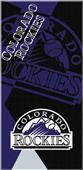 Northwest MLB Rockies Puzzle Beach Towel