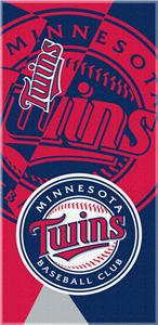 Northwest MLB Twins Puzzle Beach Towel