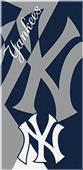 Northwest MLB Yankees Puzzle Beach Towel