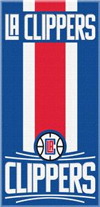 Northwest NBA Clippers Zone Read Beach Towel