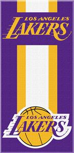 Northwest NBA Lakers Zone Read Beach Towel