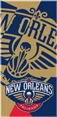 Northwest NBA Pelicans Puzzle Beach Towel