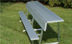 NRS Portable Benches Aluminum Legs Back Rest