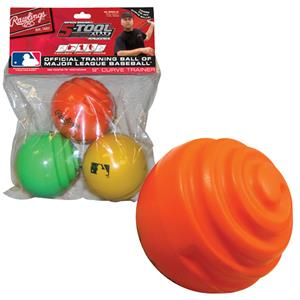 Rawlings Curve Trainer Baseball Training Balls-3pc