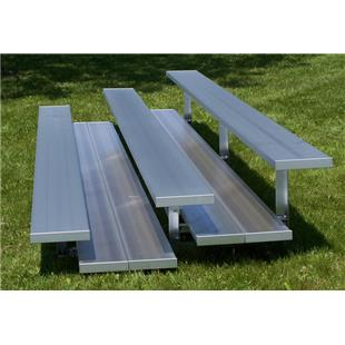 NRS 3 Row Non Elevated All Aluminum Bleachers