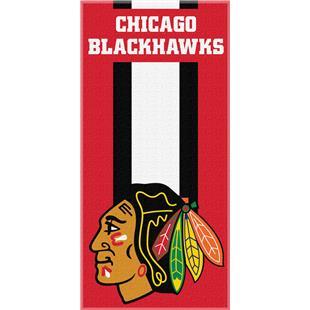 Northwest NHL Blackhawks Zone Read Beach Towel
