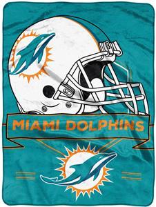 Northwest NFL Dolphins Prestige Raschel Throw