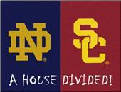 Fan Mats Notre Dame/Southern Cal House Divided Mat