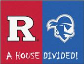 Fan Mats Rutgers/Seton Hall House Divided Mat