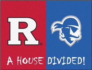 Fan Mats Rutgers/Seton Hall House Divided Mat