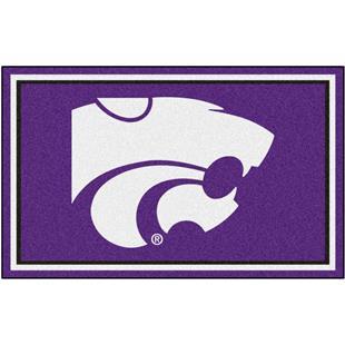 Fan Mats NCAA Kansas State University 4'x6' Rug