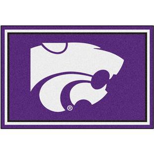 Fan Mats NCAA Kansas State University 5'x8' Rug