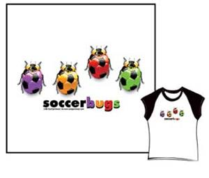 Closeout-Soccer Bugs soccer tshirt gifts