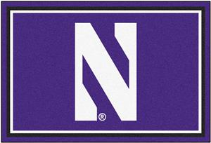Fan Mats NCAA Northwestern University 5'x8' Rug