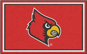 Fan Mats NCAA University of Louisville 4'x6' Rug