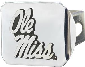 Fan Mats NCAA Ole Miss Chrome Hitch Cover