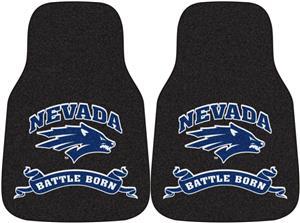 Fan Mats NCAA Univ of Nevada Carpet Car Mats (set)