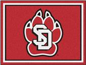 Fan Mats NCAA Univ. of South Dakota 8'x10' Rug
