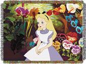 Northwest Alice in the Garden Woven Tapestry Throw