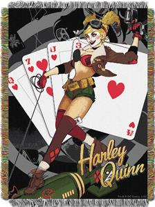 Northwest Harley Quinn Woven Tapestry Throw