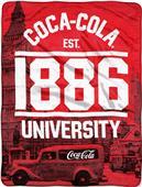 Northwest Coca-Cola London Micro Raschel Throw