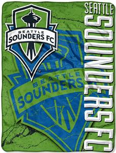 MLS Seattle Sounders Concrete Micro Raschel Throw