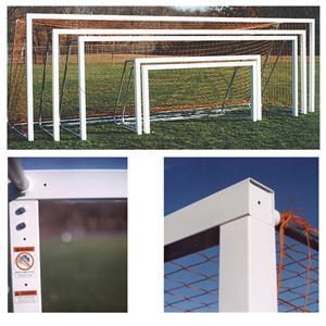 Square Aluminum Soccer Goals 6.5x12x2x6 (1-Goal)