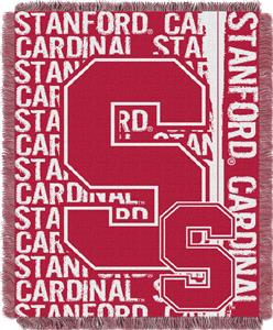 Northwest Stanford Double Play Jaquard Throw