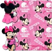 NFL Browns Disney Minnie Hugger & Fleece Throw