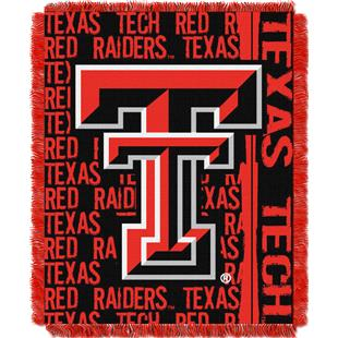 Northwest Texas Tech Double Play Jaquard Throw