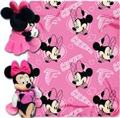 NFL Falcons Disney Minnie Hugger & Fleece Throw