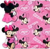 NFL Jets Disney Minnie Hugger & Fleece Throw