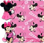 NFL Patriots Disney Minnie Hugger & Fleece Throw
