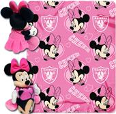 NFL Raiders Disney Minnie Hugger & Fleece Throw