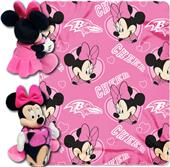 NFL Ravens Disney Minnie Hugger & Fleece Throw