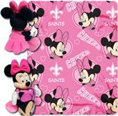 NFL Saints Disney Minnie Hugger & Fleece Throw
