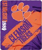 Northwest Clemson Painted Fleece Throw