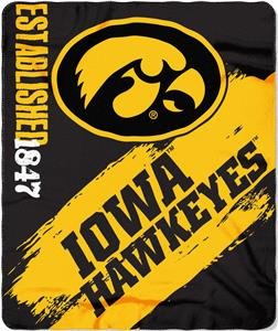 Northwest Iowa Painted Fleece Throw