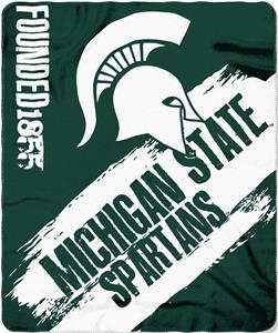 Northwest Michigan State Painted Fleece Throw
