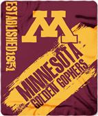 Northwest Minnesota Painted Fleece Throw