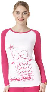 WonderWink Womens Silky Baseball Tee