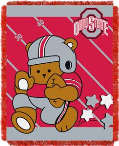 Northwest Ohio State Fullback Baby Jacquard Throw
