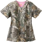 Carhartt Women's V-Neck Realtree Scrub Top