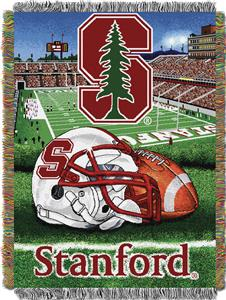 Northwest Stanford HFA Woven Tapestry Throw