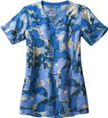 Carhartt Womens Y-Neck Print Scrub Top