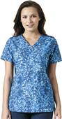 Carhartt Womens Knit Mix Print Scrub Tops