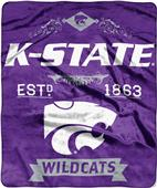 Northwest Kansas State Label Raschel Throw