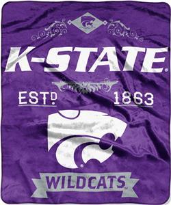 Northwest Kansas State Label Raschel Throw
