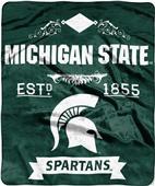 Northwest Michigan State Label Raschel Throw