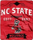 Northwest NC State Label Raschel Throw